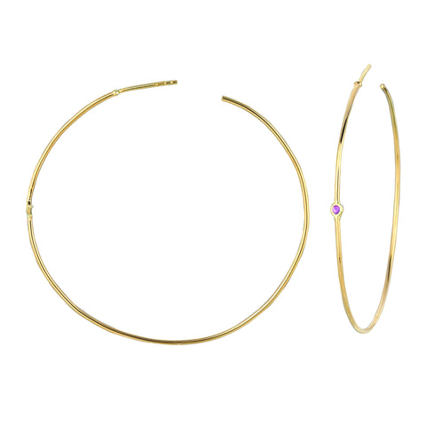Hoops with Pink Sapphires
