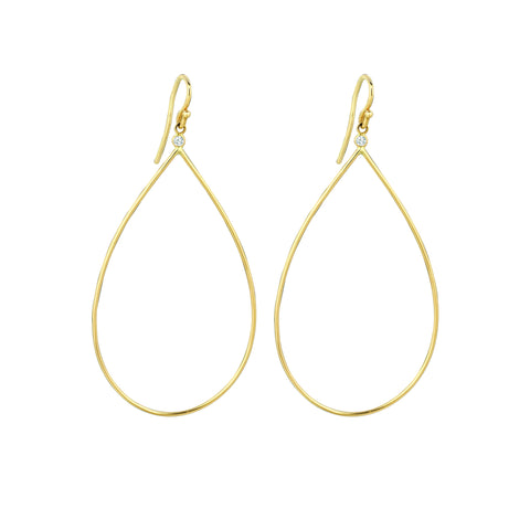 Pear Shape with Diamond Earrings
