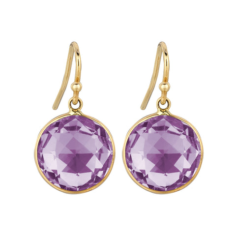 Purple Amethyst Lollipop Earrings