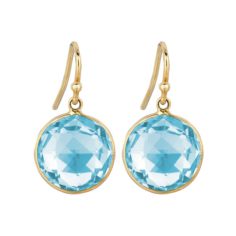 Blue Topaz Lollipop Earrings