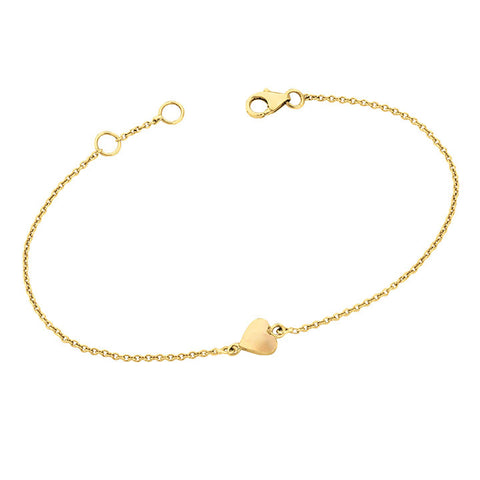Solid Gold Heart Bracelet for Soroka