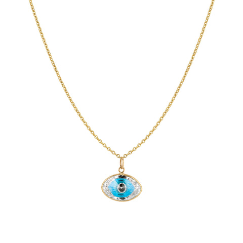 Large Marquis Evil Eye Necklace