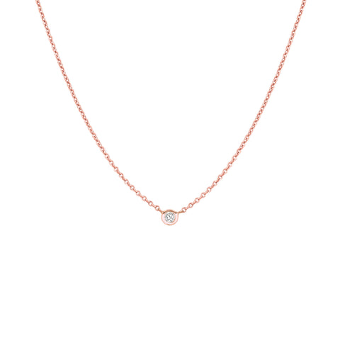 Small Diamond Solitaire Necklace