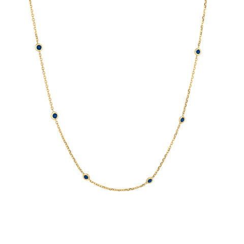 Ten Sapphires Necklace