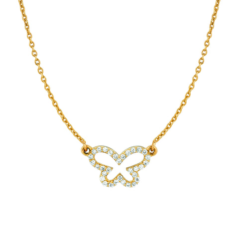 Small Diamond Butterfly Necklace