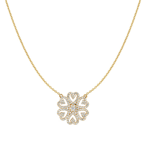 Diamond Heart Motif Necklace
