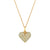 Diamond Puffed Heart and Arrow Necklace