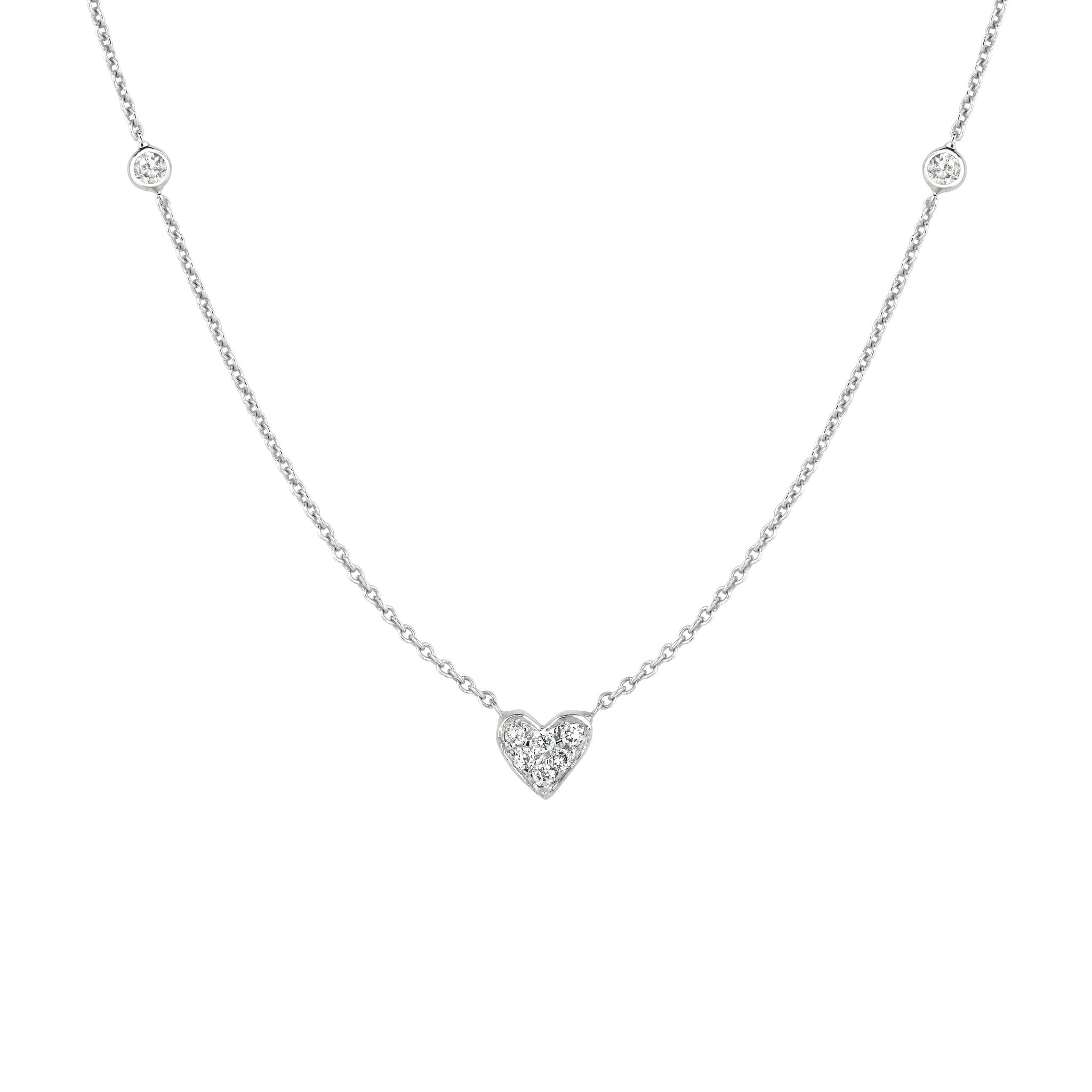 sterling swarovski heart silver made two product zirconia with necklace diamondust