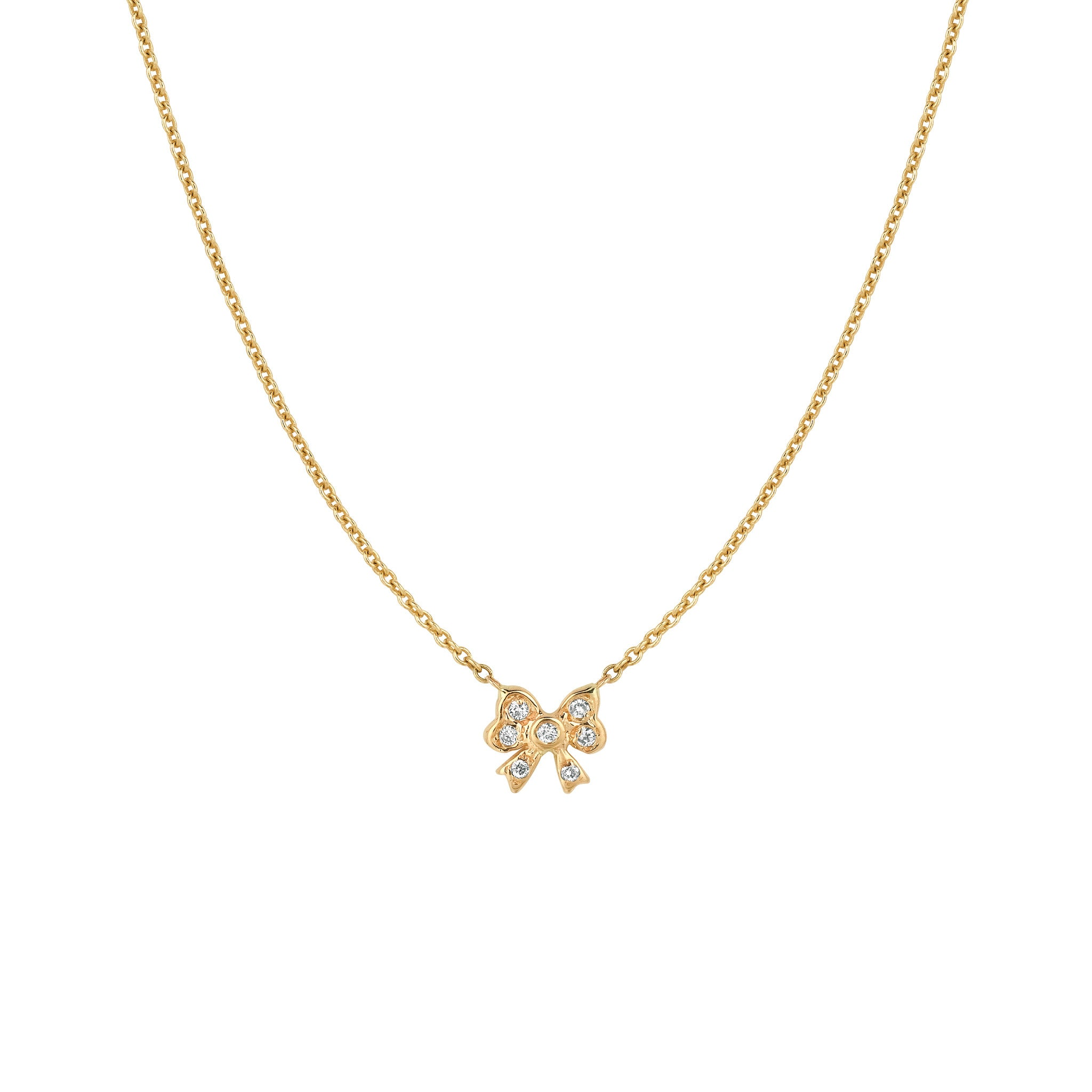 collections bow necklace the
