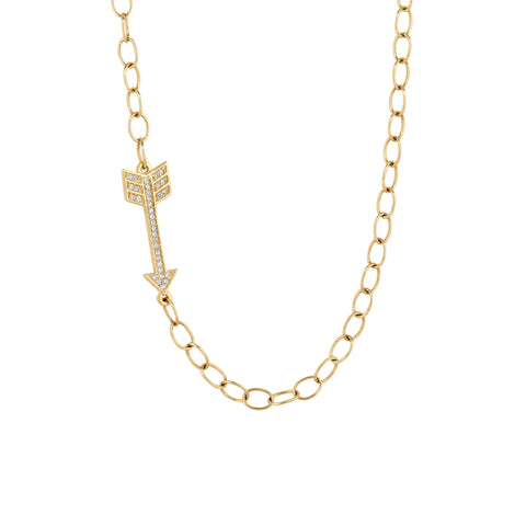 Diamond Arrow on Links Necklace
