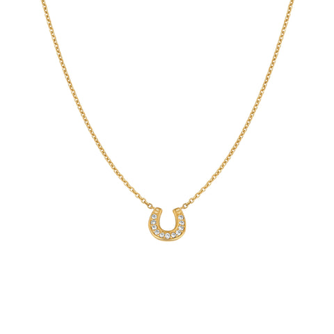 Diamond Horseshoe Necklace for NYCLASS