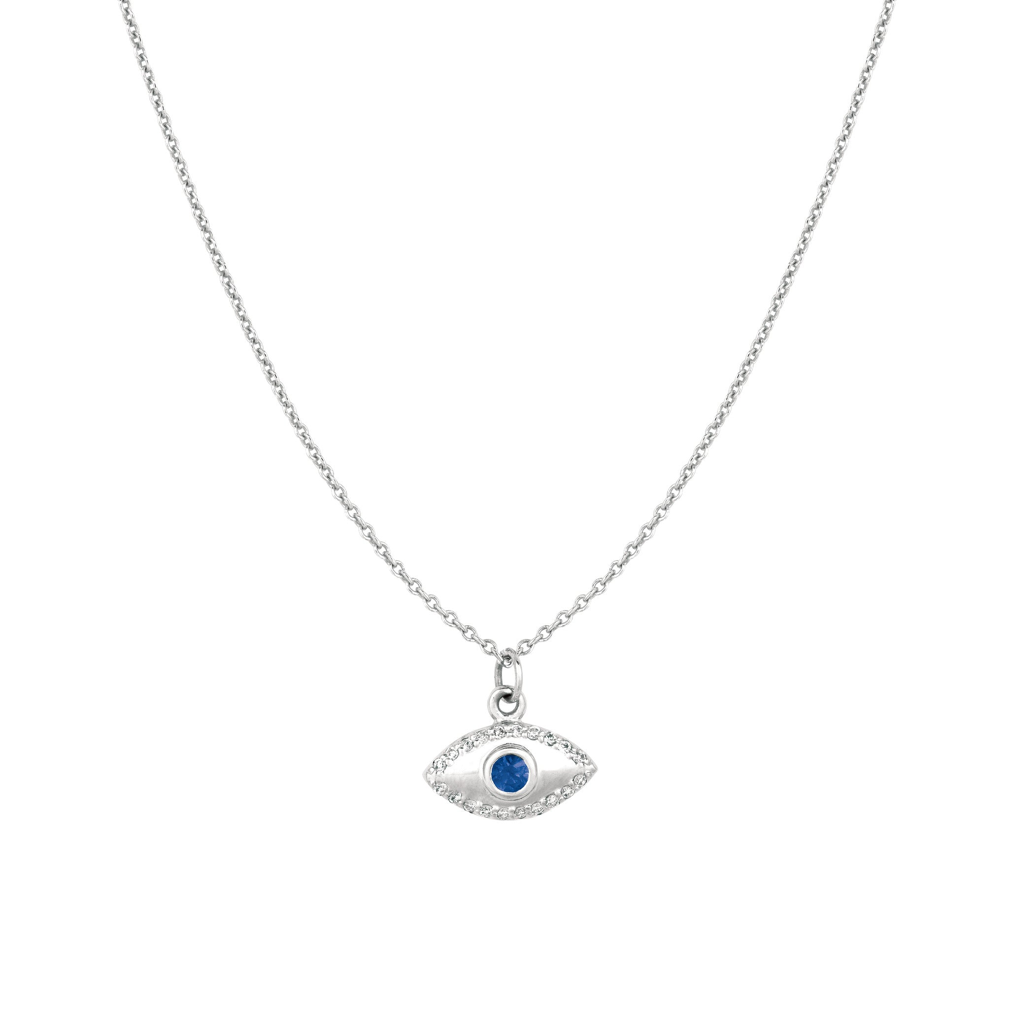 eye b evil point yellow pendant sapphire necklace diamond gold