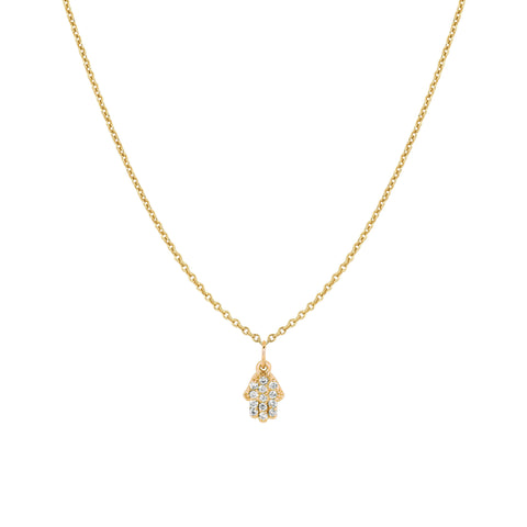 Small Diamond Hamsa Necklace