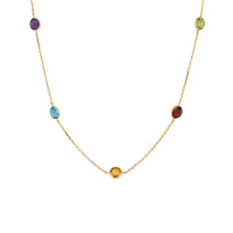 Seven Colored Stones Necklace