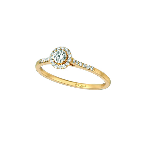 Diamond Center with Pave Diamonds Ring