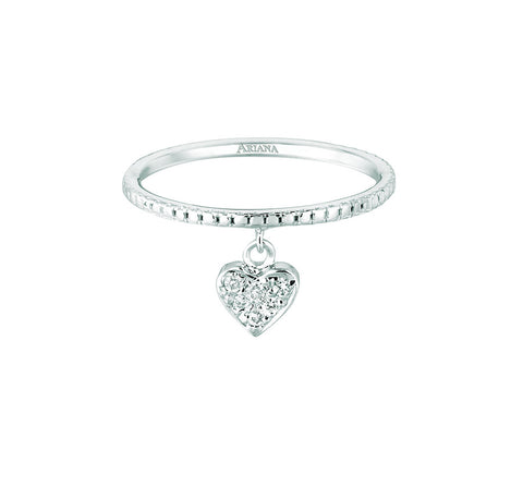 Diamond Dangle Heart Ring