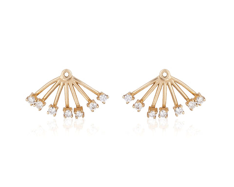 Large Diamond Ear Jackets