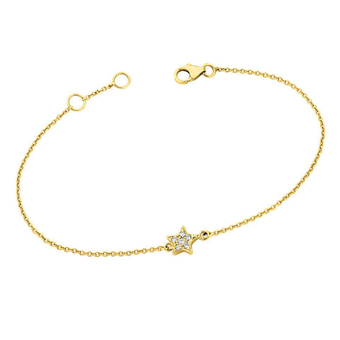 Pave Diamonds Star Bracelet for Soroka