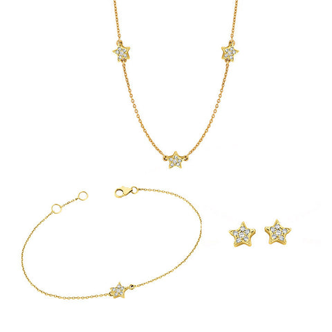 Stud, Bracelet and Necklace Star Set for Soroka