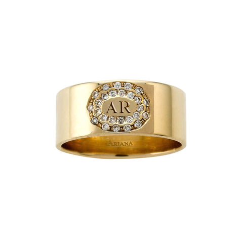 Cigar Band (optional diamonds and engraving)