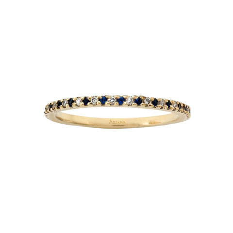 Thin Diamond and Sapphire Eternity Ring