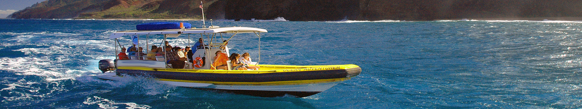 Hawaii Rafting catamaran sailing