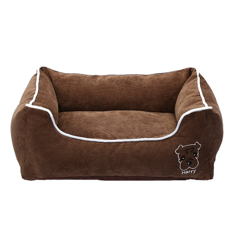 Soft Corduroy Pet Bed