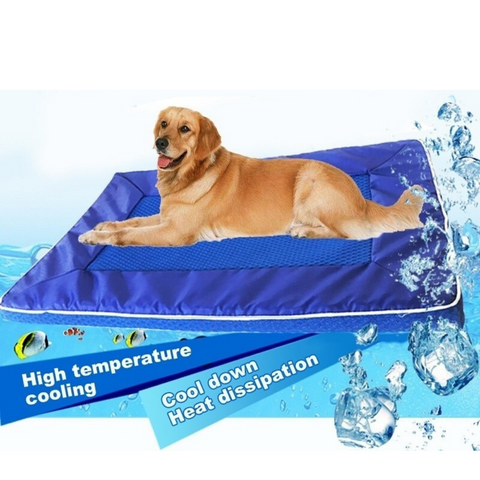 Blue Cooling Pet Mat