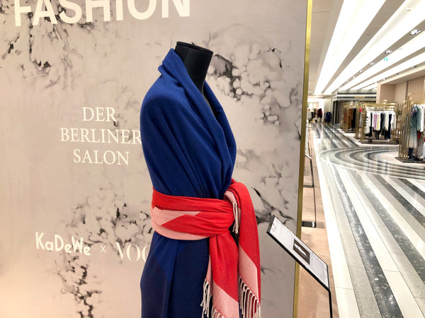 Blog Vote for Fashion im KaDeWe zur Fashion Week Berlin mit Wolldecken