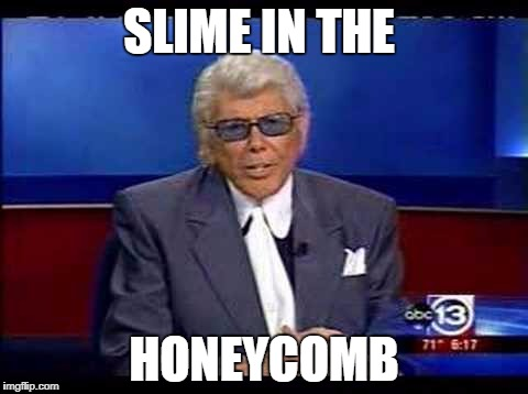 Houston meme slime in the icebox. Slime honey fermenting.