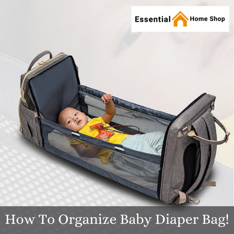 How To Organize Baby Diaper Bag!