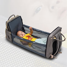 Load image into Gallery viewer, Multi-functional Portable Baby Diaper Bag with Bassinets