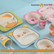 Load and play video in Gallery viewer, High Quality Bamboo Kids Tableware Online