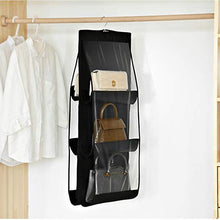 Load image into Gallery viewer, Black Hand Bag organizer 6 sleeves