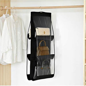 Black Hand Bag organizer 6 sleeves