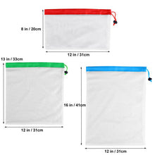 Load image into Gallery viewer, 3 Sizes Eco Friendly re-usable storage Bag