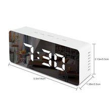 Load image into Gallery viewer, LED Mirror Alarm Clock with Digital Snooze