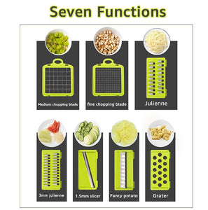 Seven Function of Vegetable Cutter