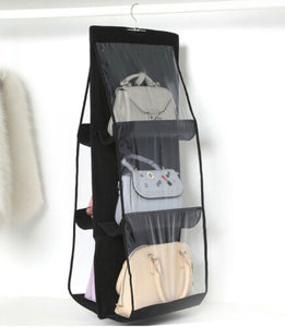 Black Hand Bag organizer 6 sleeves Online
