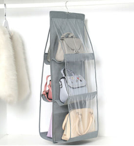 Grey Hand Bag organizer 6 sleeves