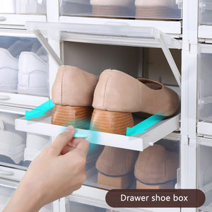 3pcs/Set Push-pull Shoes Box Rack