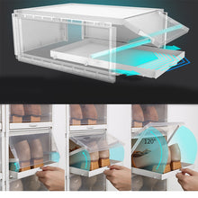 Load image into Gallery viewer, 3pcs/Set Push-pull Shoes Box Rack with Free Shoe laundry Bag