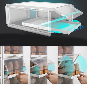 Transparent Push-pull Shoes Box Rack