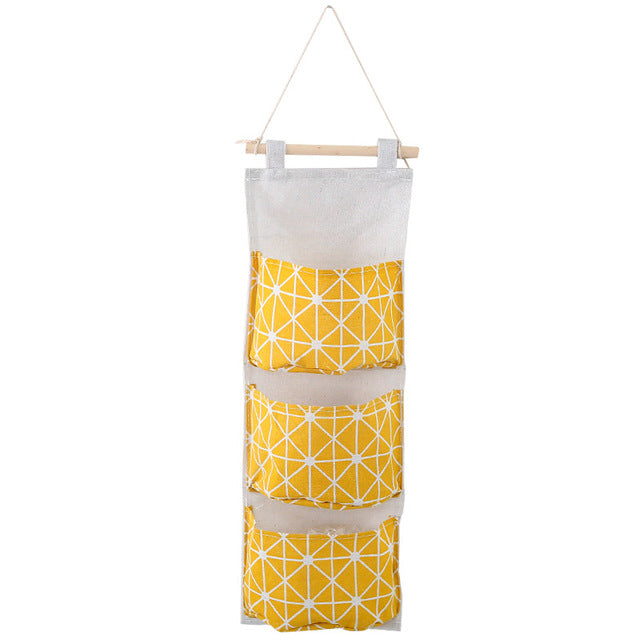 Wall Mounted Wardrobe Organizer - Yellow