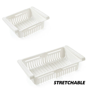 White Stretchable Fridge Organizer