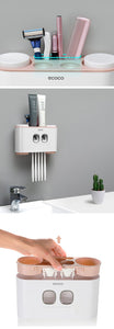 Wall-mounted  Tooth Brush Holder and Dispenser