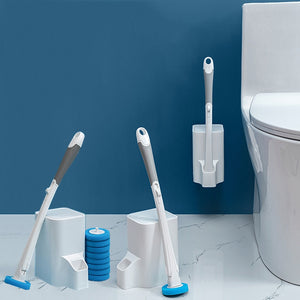 Buy Bathroom Disposable Toilet Brush with 30 Brush Heads