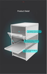 3pcs/Set Push-pull Shoes Box Rack Online