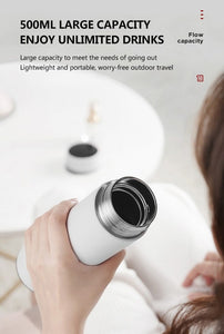 500ml Smart Thermos Coffee Bottle Temperature Display