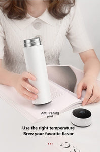 Smart Thermos Coffee Bottle Temperature Display